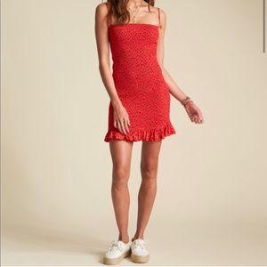 NWT Billabong Smocked Bodycon Red Dress